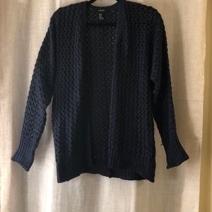 Forever 21 Navy Blue Knit Cardigan